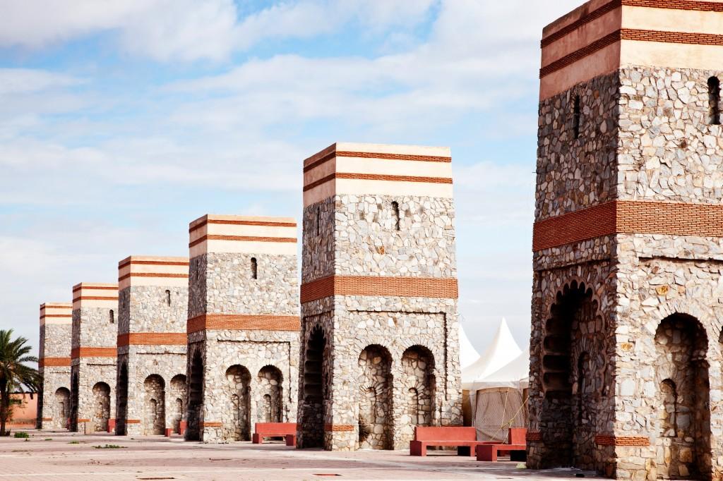 Dei Stadtmauer von Marrakesch